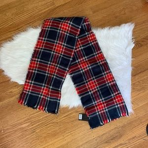 Red & Blue Plaid Blanket Scarf
